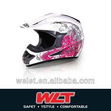 DOT Butterfly half motorcycle cross helmet WLT-125 White/ 3#