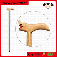 carved handle hand made wooden walking stick