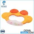 plástico brinquedo de silicone bebê chocalho e mordedor