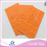 Colored luminary paper candle bags for party decoration