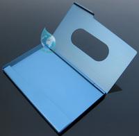 Cute name card holder/2014 simple design metal card holder