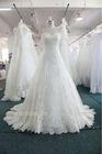 real sample off shoulder A Line drop waist bridal Wedding Dress