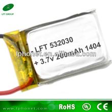 3.7v 200mah li-po li ion polymer battery 532030 for v911 rc helicopter