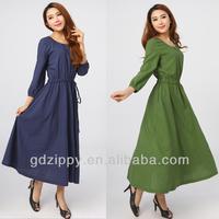 Zippy 2014 New Design Long Sleeve Lady Cotton Casual Dress