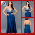 E0690 Big Size Women Dress Backless Royal Blue Mature Sexy Evening Dresse 2014
