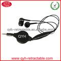 Mp3 mp4 kulaklık cep telefonu, mp3 mp 4, bilgisayar, dizüstü 2014 iyi geri çekilebilir mikrofon kulaklık kulaklık