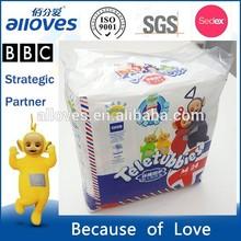 TK-0012 disposable baby print adult diaper , 75mm high super elastic wraparound waistband