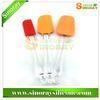 2014 Best Silicone Spatula Set FDA/LFGB grade Transparent color available