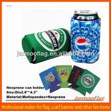 cheap full color neoprene beer bottle cooler holder