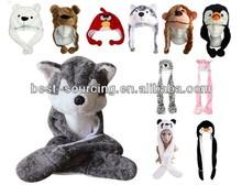 fake faux fur, soft plush, fleece, newest design fashion fuzzy animal fur hats, hotsale, long and short