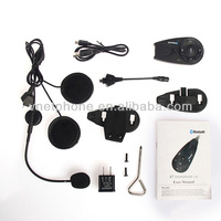 New1200m motorcycle bluetooth helmet audio intercom system