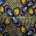 100% tissu de coton de vraie cire africain stock lot