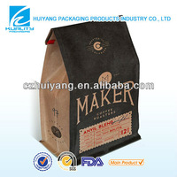 Safety Food Grade Gravure food packaging kraft paper bags for coffee