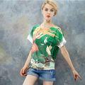 el último modelo de nueva dama de la moda sueltas de la camiseta para las mujeres