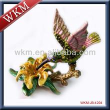animal shaped enamel metal jewelry box
