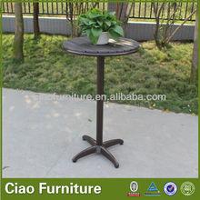 Water resist PO-wood top bar table high bar stool