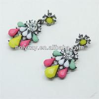 2014 trendy colorful decorated lady jewelry earrings,latest fashion murano earrings,2014 trend jewelry earrings