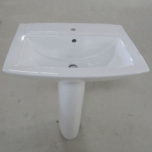 basin with pedestal square sanitary ware pedestal basin ,Bathroom square basin with pedestal made in china