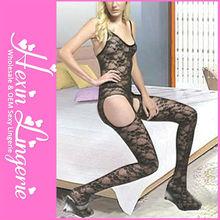 Wholesale fashion plus size long sexy nylon bodystocking