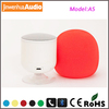 2014 newest design no button hifi sound sponge cover bluetooth speaker revolving bluetooth speaker for mobilephone