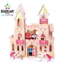 wooden princess castle kid kraft natural wood