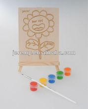 Doodle Fill with pigment kids Watercolor DIY wooden art set drawing board art brush set