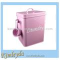 Polvo del lavadero de Metal caja de la lata