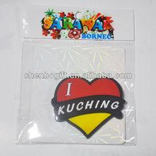 Eco-friendly heart shaped soft pvc souvenir fridge magnet for fridge / magnetic rubber fridge magnets