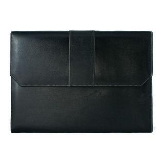 leather portfolio logo embossed