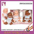 28cm noir poupée bébé reborn, noir jouet de poupée, baby doll jouets