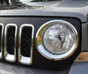 chrome head lamp front headlight ring trim cover for 2011- 2013 JEEP PATRIOT