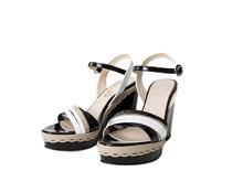 Ibiza Black Leather Sandal - GENUINE LEATHER -- FUQSIA