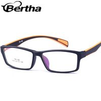 Bertha Prescription Ultra Super Light Optical Glasses Frame 1070 Sandy black frame orange legs