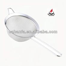 8cm tamaño de buena calidad y precio barato de acero inoxidable colador de aceite/colador