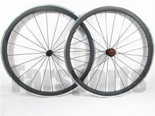 38mm carbon alloy clincher brake surface carbon wheels,carbon alloy wheelset