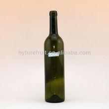 750ml dark green glass bottle for red wine,drink glass bottle