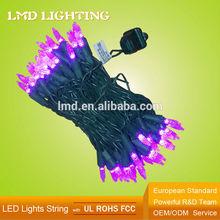 UL 120V Christmas Lights String Purple Mini LED 70 Bulb
