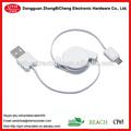 Para PSP / câmera / telefone móvel / computador de carregamento e transferência de dados retrátil mini usb data sync charger cable