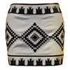 rhombic pattern embroidered fancy mini skirt 5005
