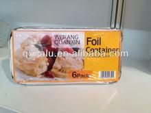 aluminum foil container +Color label +shrink wrapped, 215x110x70mm