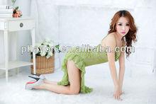Oem& odm verde engraçado blazer fotos de meninas sem calcinha