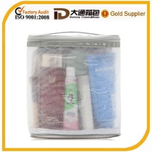 Transparent clear mesh PVC cosmetic bag
