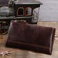 Café longo nova mens couro bifold slim com cartão de crédito titular embreagem bolsa carteiras # 8027c