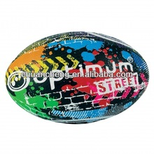 Hand Stitched Tribal Design Street Rugby Ball