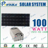 High Efficient 100W waterproof solar system for irrigation pump with max load 300w and portable stainless steel control box