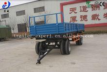 10t cheap 4-wheel dumping agricultural semi trailer