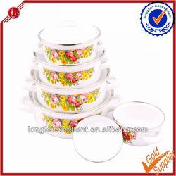 662DB 5pcs New-style porcelain mini ENAMEL COOKWARE coated cast iron cookware