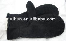 Women's yarn polar fleece gloves