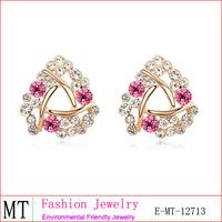 Dubai Gold Jewelry Hair Dye Ear Cap Gold Earrings 2012 New Design