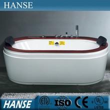 HS-B1723T massage portable resin freestanding oval acrylic bathtub